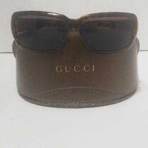 Gucci Tortoise Shell Frame Horsebit Sunglasses